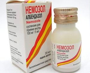 Немозол суспензия от аскаридоза