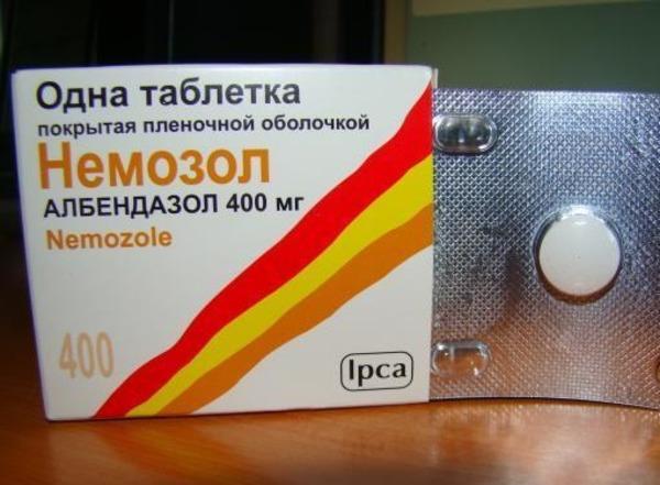 Немозол для лечения токсокароза