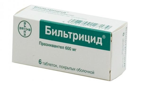 При лечении применяется Бильтрицид