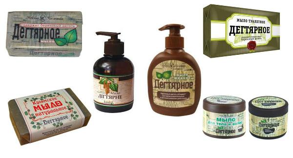 Разновидности дегтярного мыла