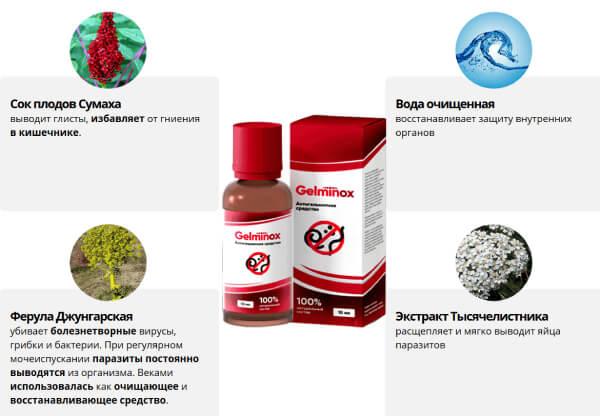 Состав препарата Гельминокс