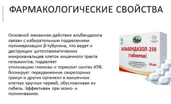 Альбендазол от глистов