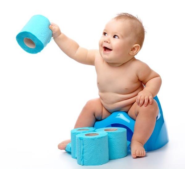 Необходимо часто дезинфицировать горшок ребенка