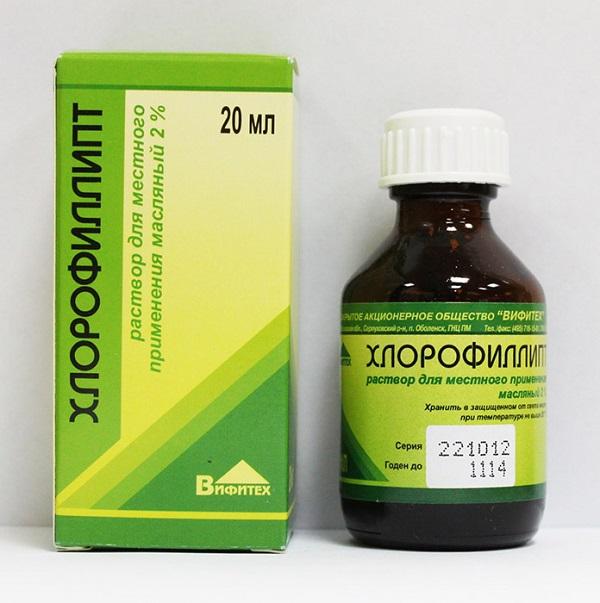 Хлорофиллипт против стафилококка