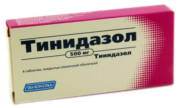 Тинидазол в таблетках