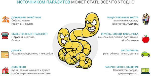 Заражение поджелудочной железы паразитами