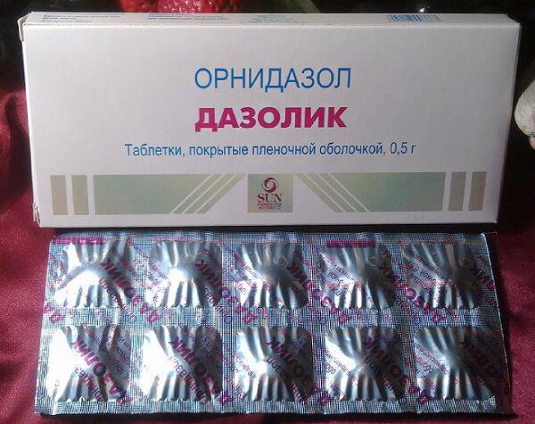 Дазолик в таблеток