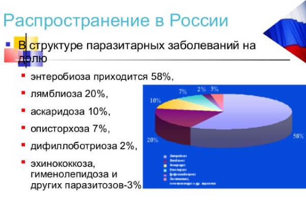 Основные паразитозы в РФ